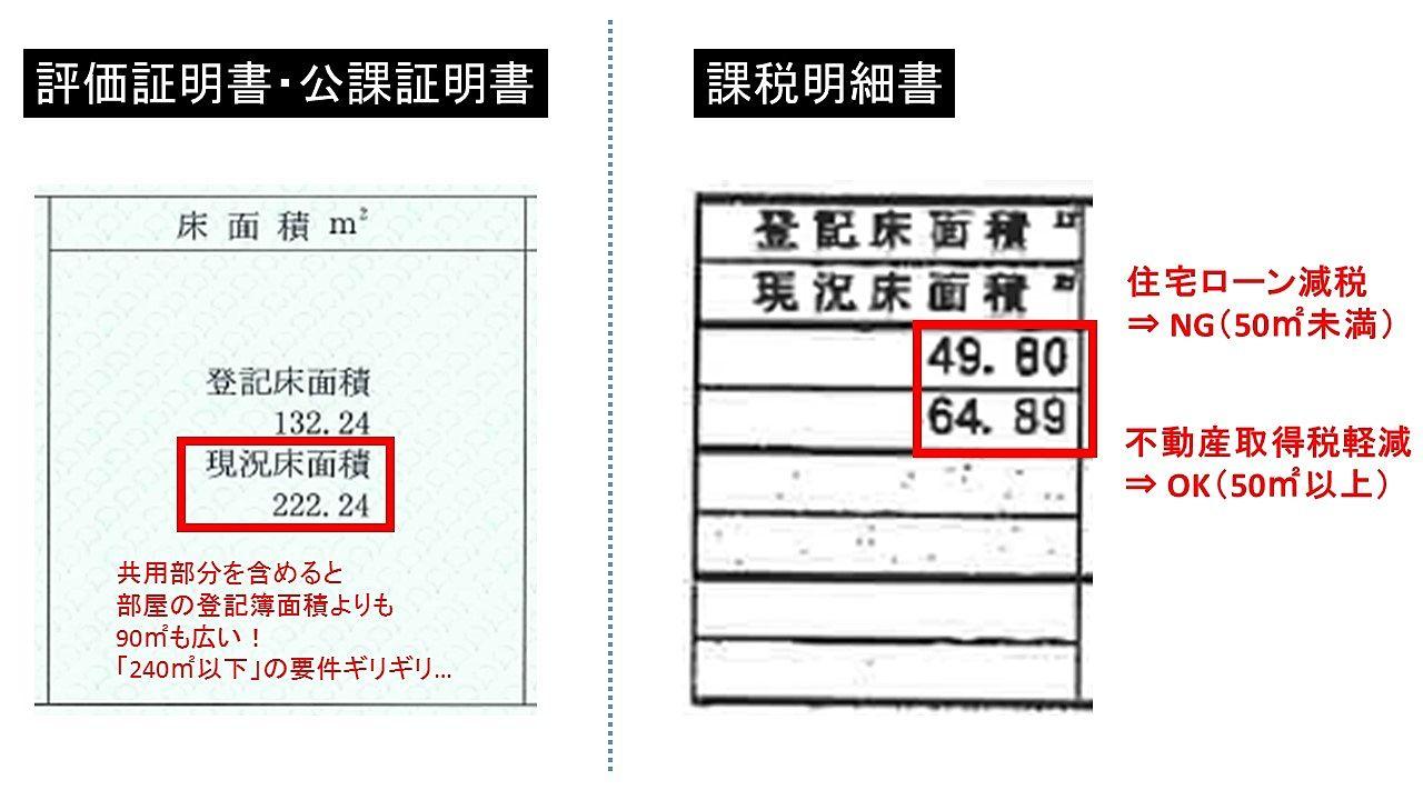 課税床面積・登記簿面積の違いを公課証明と課税明細書で確認する