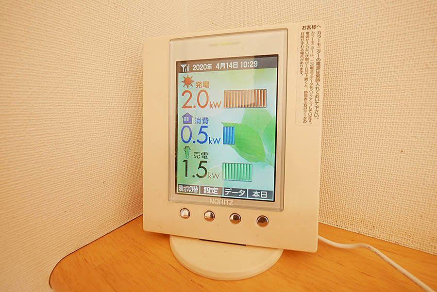 太陽光発電量・エネルギーモニタ