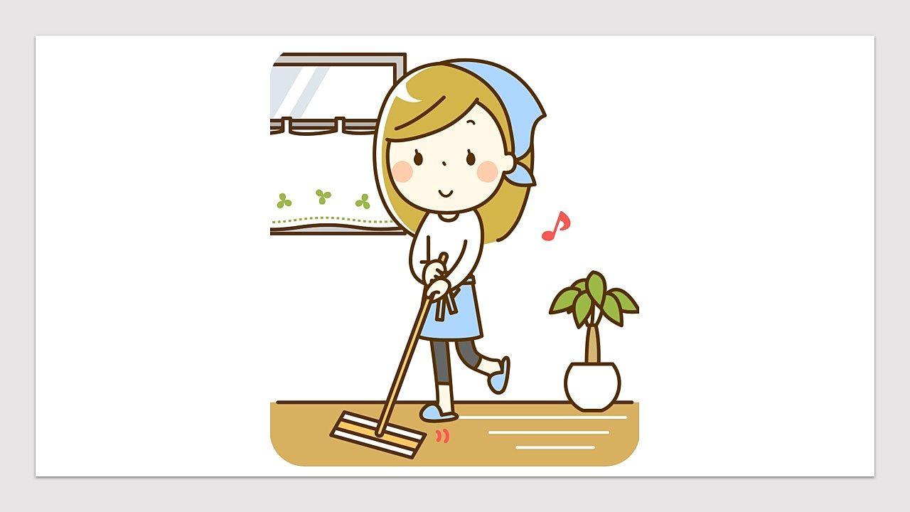 クイックルワイパーでササっと床を拭きましょう!