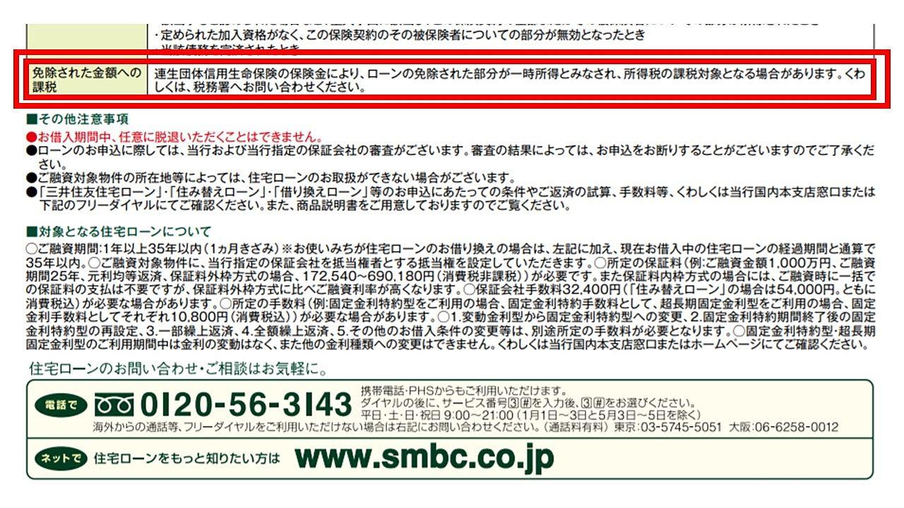 三井住友銀行「クロスサポート」パンフレットの注意事項を確認