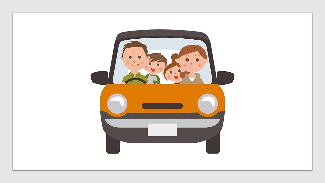 家族でみんなで車に乗ってマイホーム探し
