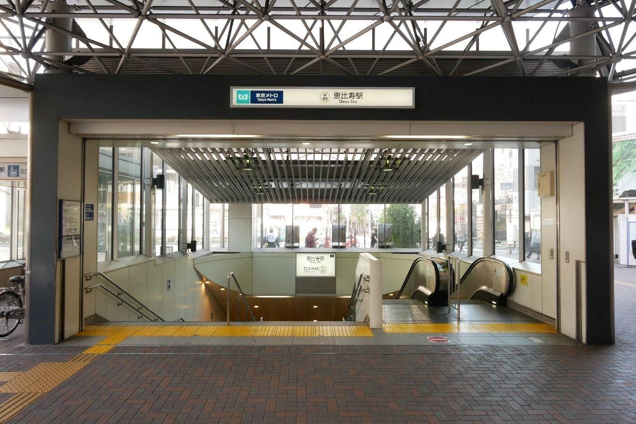 日比谷線「恵比寿」駅のatre下にある出入口