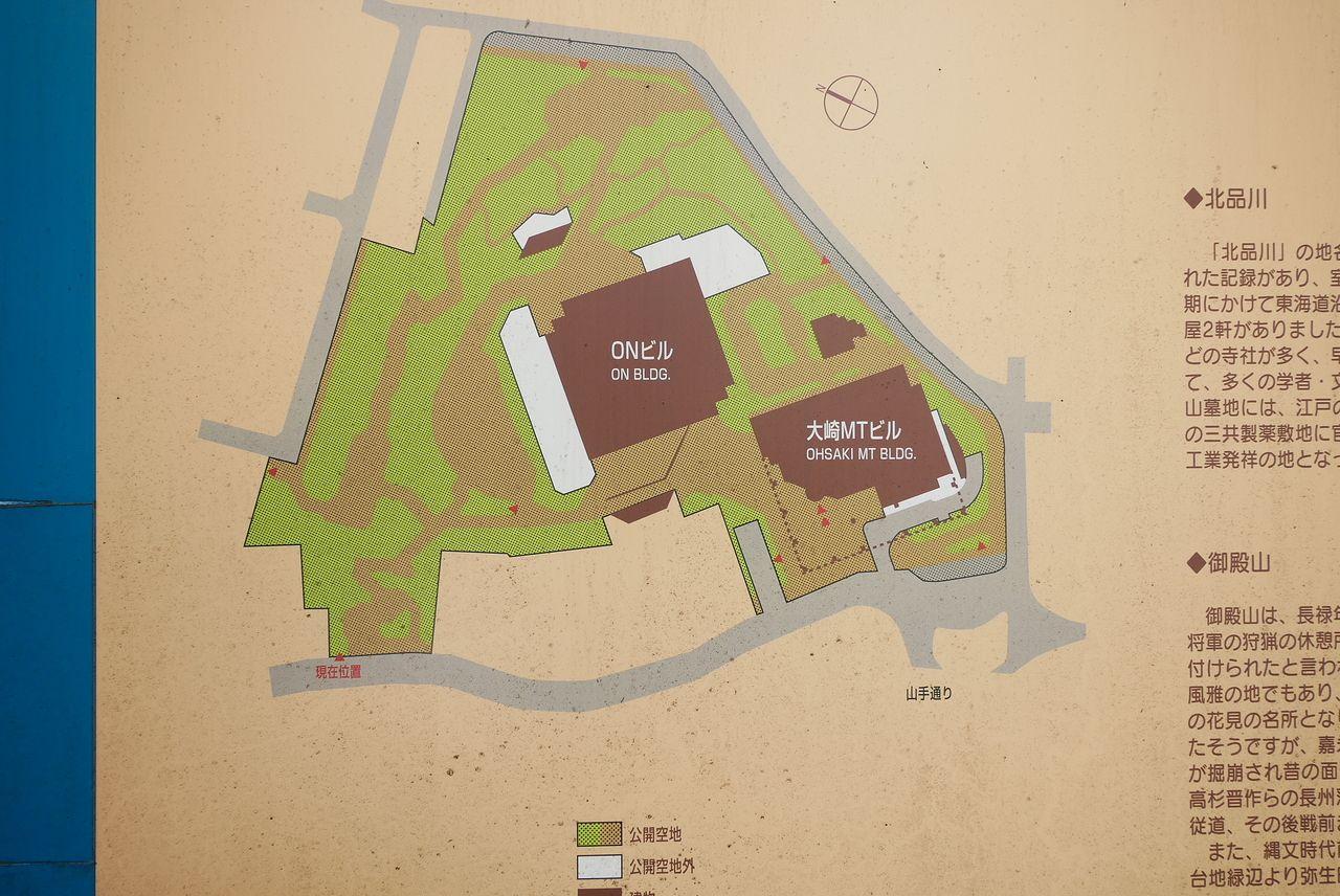 森トラストONビルの公開空地全体図