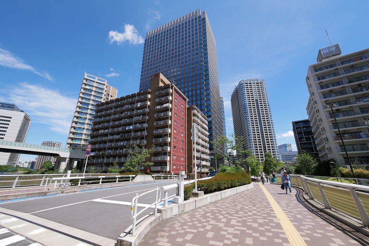 小関橋 ( こせきばし ) から見るパークシティ大崎